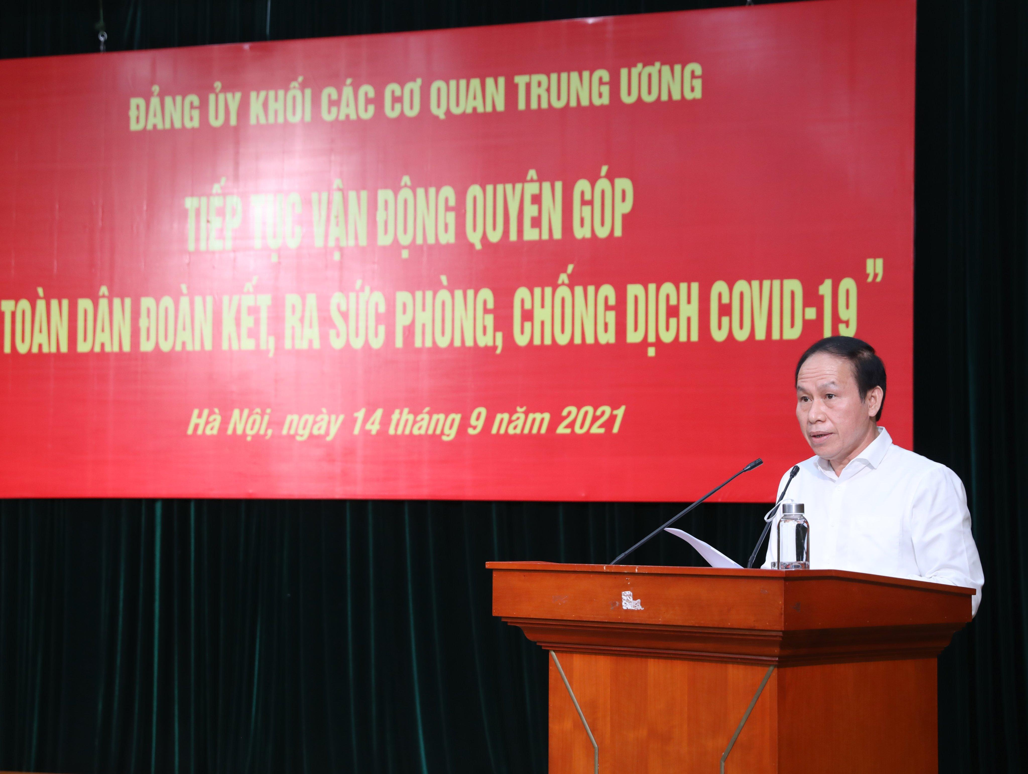 Phó Chủ tịch - Tổng Thư ký UBTƯ MTTQ Việt Nam Lê Tiến Châu phát biểu tại buổi lễ.
