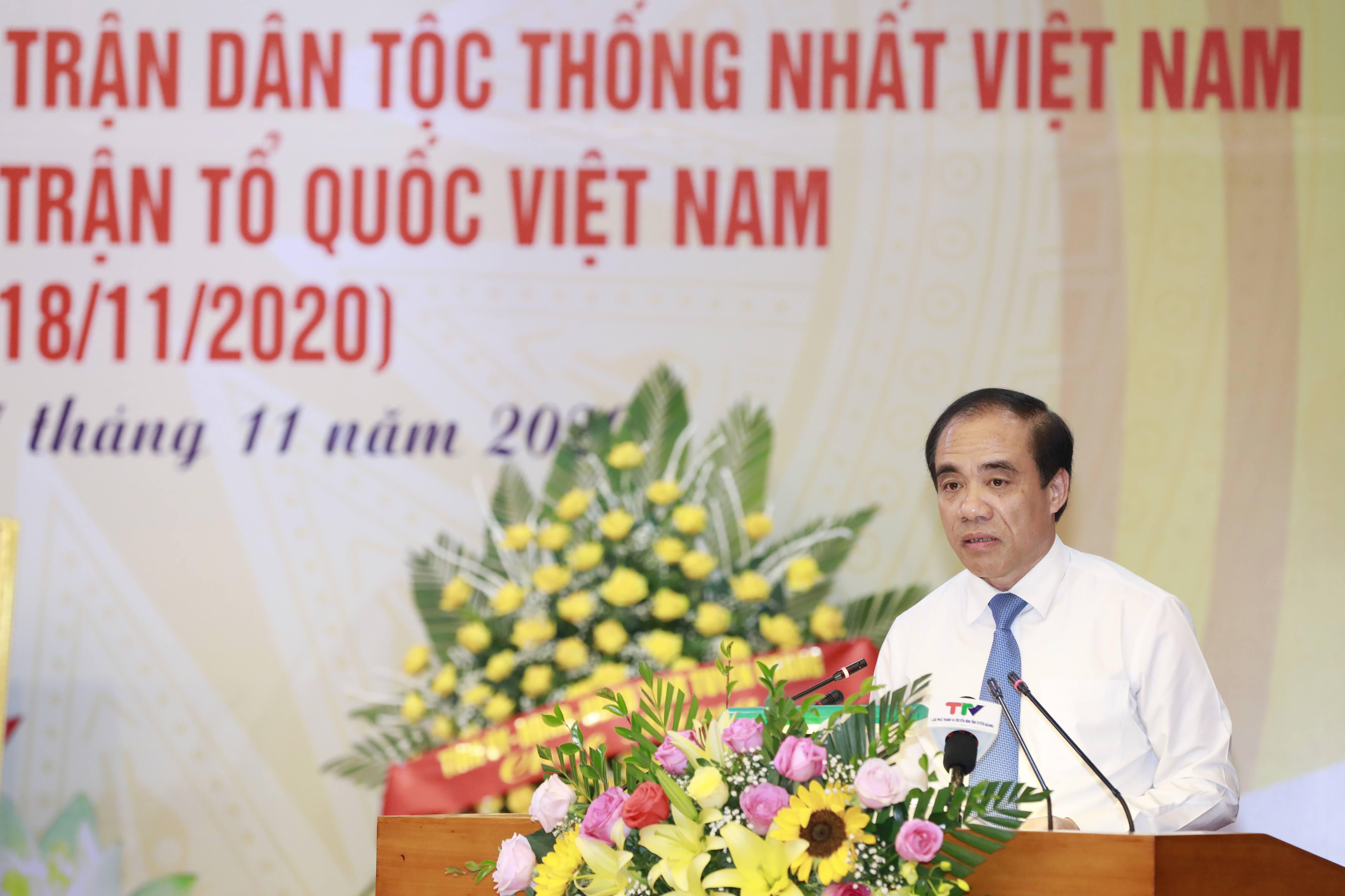 Bí thư Tỉnhủy Tuyên Quang Chẩu Văn Lâm phát biểu tại Lễ kỷ niệm.