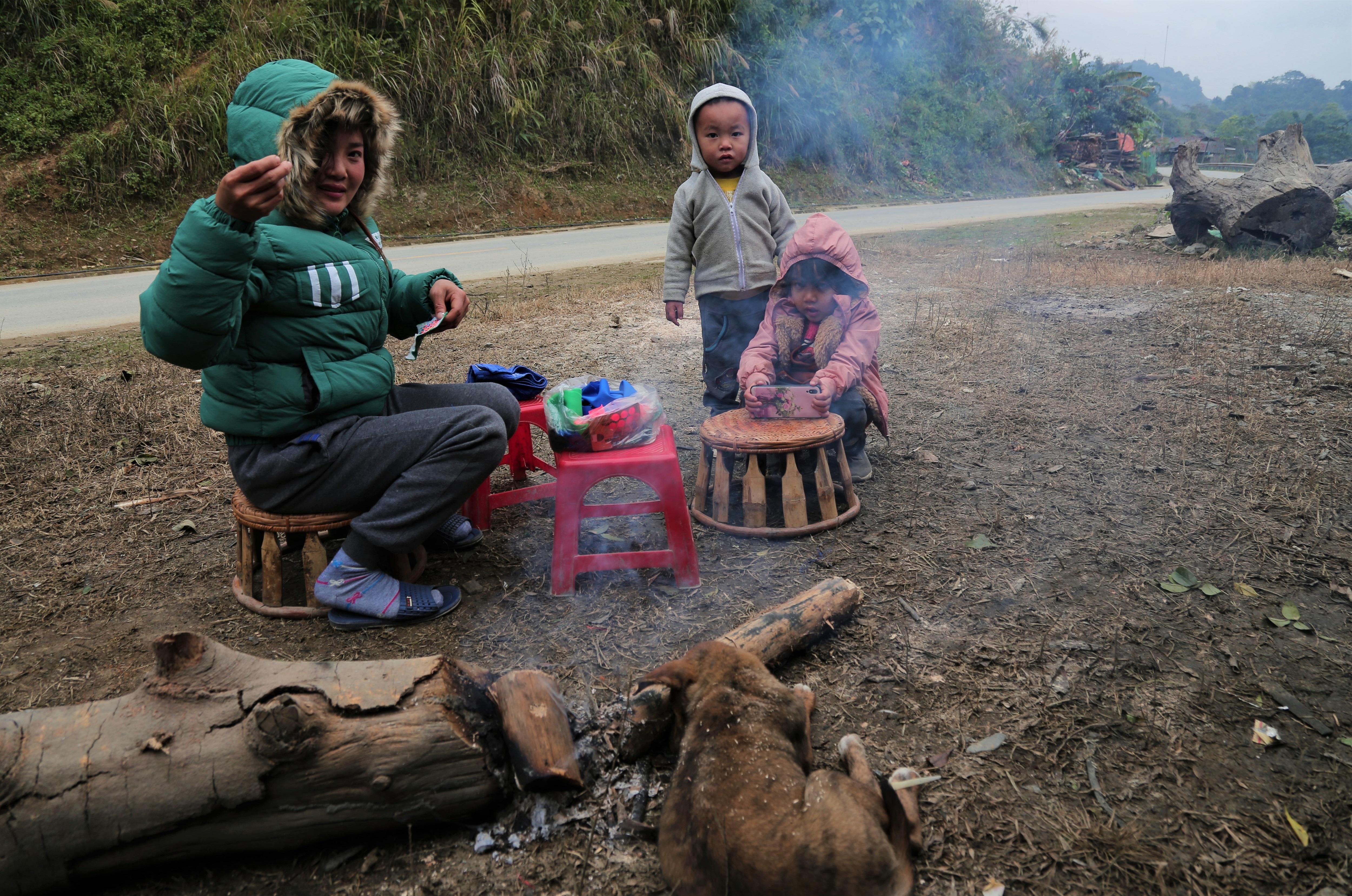 Những đứa trẻ ở Nậm Cắn.