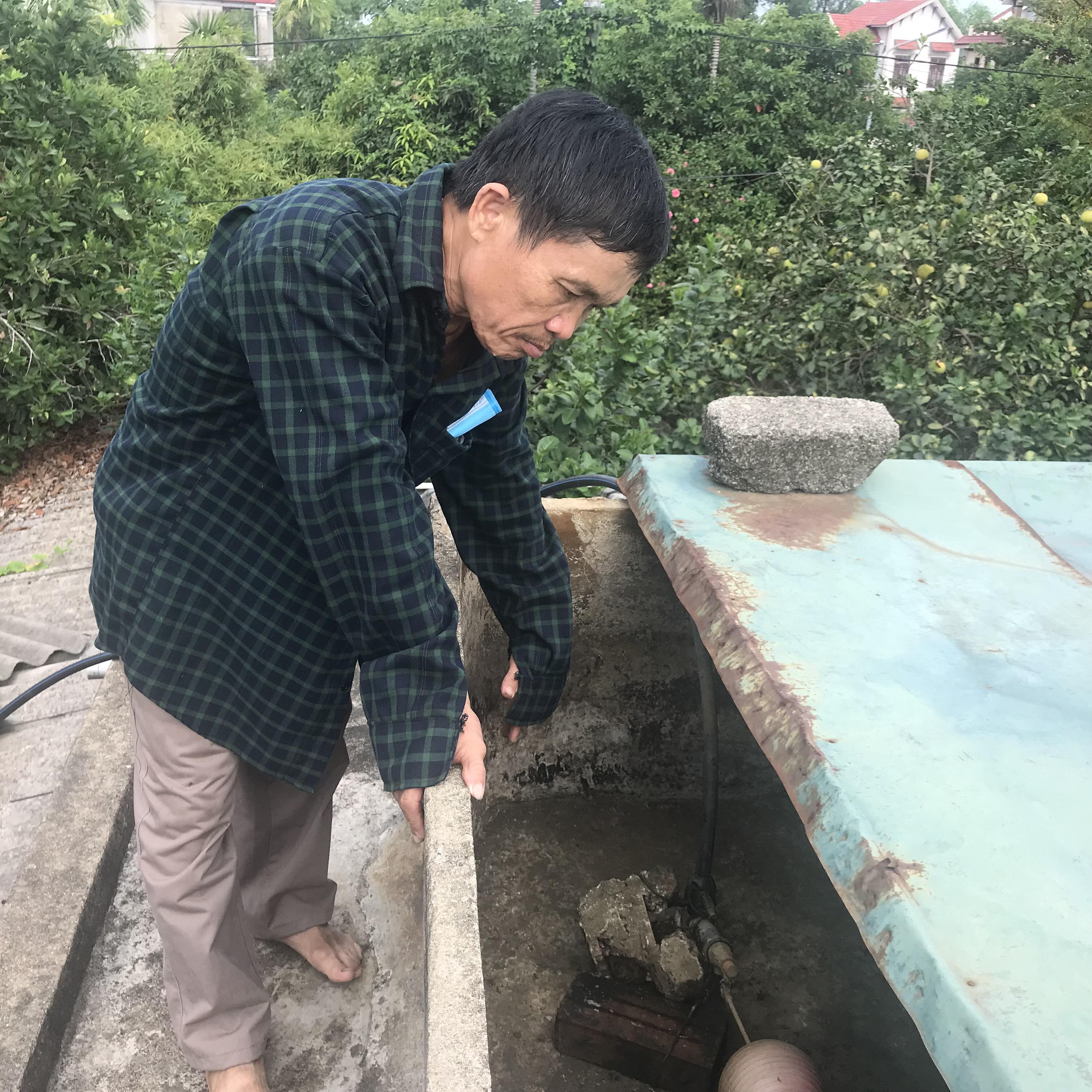 Người dân xã Thạch Thanh (cũ) bức xúc vì nước sinh hoạt bị ngắt không báo trước.