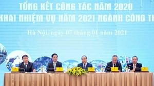 [ẢNH]Thủ tướng dự Hội nghị triển khai kế hoạch năm 2021 ngành Công Thương