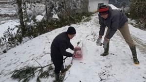 Đường trơn, cơ quan chức năng 'khuyên' người dân không đi ngắm tuyết