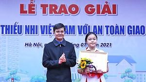 """Trao giải """"Thiếu nhi Việt Nam với an toàn giao thông"""" năm 2020"""