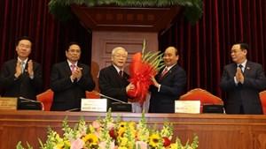 Tổng Bí thư, Chủ tịch nước Nguyễn Phú Trọng tiếp tục được tín nhiệm bầu làm Tổng Bí thư Ban Chấp hành Trung ương Đảng khóa XIII