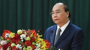 Thủ tướng Nguyễn Xuân Phúc thăm, làm việc với Sư đoàn Phòng không Hà Nội