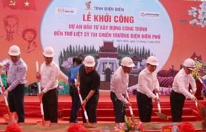 Khởi công xây dựng Đền thờ Liệt sĩ Chiến trường Điện Biên Phủ