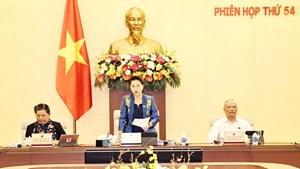Khai mạc Phiên họp thứ 54 của Ủy ban Thường vụ Quốc hội