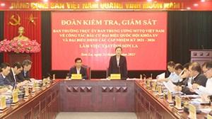Phó Chủ tịch Trương Thị Ngọc Ánh kiểm tra, giám sát công tác bầu cử tại tỉnh Sơn La