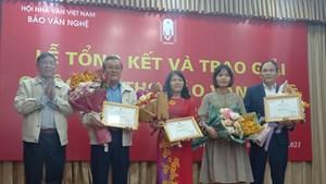 Báo Văn nghệ trao giải cuộc thi thơ 2019 – 2020