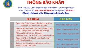 Điện Biên: Yêu cầu người từng đến 9 địa điểm khai báo y tế