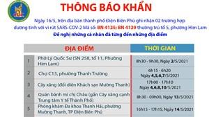 Điện Biên: Người đến 6 địa điểm khẩn trương khai báo y tế