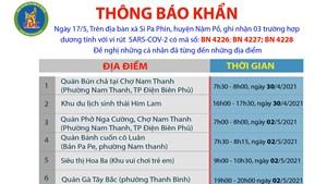 Điện Biên: Khẩn tìm người từng đến 11 địa điểm khai báo y tế