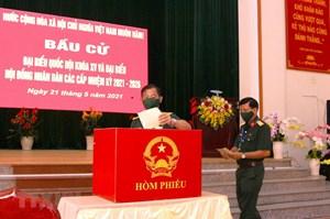 Hình ảnh cử tri bầu cử sớm tại Quảng Bình, Cà Mau, Hậu Giang, Nghệ An
