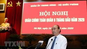 Thủ tướng dự và chỉ đạo Hội nghị Quân chính toàn quân 6 tháng đầu năm
