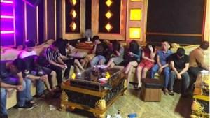 Bắt quả tang 13 đối tượng sử dụng ma túy trong quán Karaoke