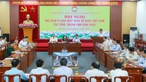 BẢN TIN MẶT TRẬN: Hội nghị Chủ tịch Ủy ban MTTQ Việt Nam các tỉnh, thành phố năm 2020