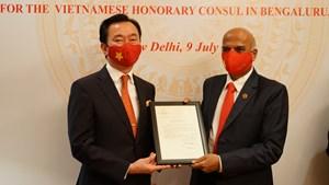 Trao quyết định bổ nhiệm Lãnh sự Danh dự Việt Nam tại Bangalore, Ấn Độ