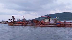 TP Móng Cái đề nghị dừng một dự án khai thác cát do xảy ra sụt lún