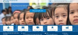 Hôm nay, phụ huynh Hà Nội được thử nghiệm tuyển sinh trực tuyến