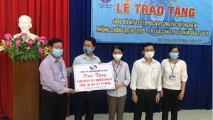 Sở Y tế Khánh Hòa tiếp nhận 4.000 bộ kit test xét nghiệm Covid-19