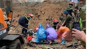Hiện trường vụ sạt lở đất đã vùi lấp 4 người tại Quảng Ninh