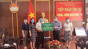 Mặt trận Quảng Nam tiếp nhận 1.000 suất quà hỗ trợ phòng, chống dịch