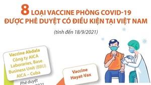 8 loại vaccine phòng Covid-19 được phê duyệt có điều kiện tại Việt Nam