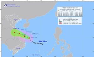 Áp thấp nhiệt đới mạnh lên thành bão số 6