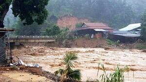 Quảng Nam:Lũ lớn lại đổ về Trà Leng