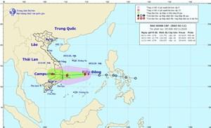 Bão số 12 hướng vào các tỉnh Phú Yên - Ninh Thuận