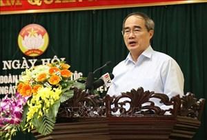 Ông Nguyễn Thiện Nhân dự Ngày hội Đại đoàn kết toàn dân tộc tại Bắc Ninh