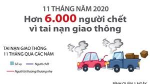 Hơn 6.000 người chết vì tai nạn giao thông trong 11 tháng qua