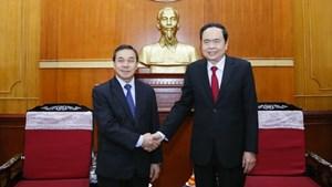 BẢN TIN MẶT TRẬN: Củng cố và phát triển mối quan hệ hữu nghị, hợp tác toàn diện Việt Nam - Lào