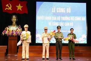 Công an tỉnh Hà Tĩnh có 2 tân Phó Giám đốc