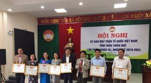 Thừa Thiên - Huế: Tổng kết công tác Mặt trận năm 2019