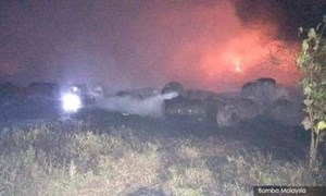 Malaysia: Nổ lớn gây hỏa hoạn tại bãi đổ chất thải bất hợp pháp