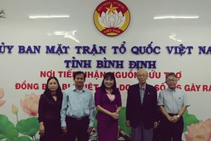 Mặt trận Bình Định tiếp nhận ủng hộ đồng bào thiệt hại do bão lụt