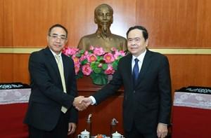 BẢN TIN MẶT TRẬN: Chủ tịch Trần Thanh Mẫn tiếp Đại sứ đặc mệnh toàn quyền Vương quốc Thái Lan tại Việt Nam
