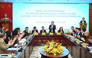 BẢN TIN MẶT TRẬN: Bí thư Thành ủy Hà Nội Vương Đình Huệ làm việc với Mặt trận Hà Nội