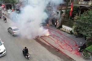 Điều tra vụ đốt pháo trong đám cưới ở Sóc Sơn