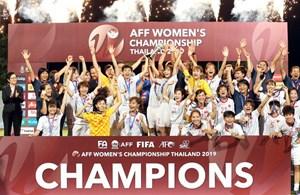 Tuyển nữ Việt Nam: Lần thứ 3 vô địch Đông Nam Á!