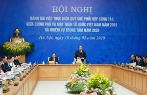 BẢN TIN MẶT TRẬN: Đánh giá việc thực hiện quy chế phối hợp công tác giữa Chính phủ và MTTQ Việt Nam