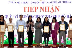 Chung tay ủng hộ Quỹ 'Vì người nghèo' thành phố Hà Nội