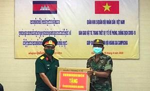 Khánh Hòa tặng vật tư y tế cho tỉnh Stung Treng, Campuchia