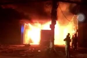 [VIDEO] Hiện trường vụ cháy xưởng gỗ