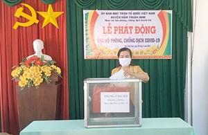 Hàm Thuận Nam (Bình Thuận): Hơn 76 triệu đồng ủng hộ phòng, chống dịch Covid-19
