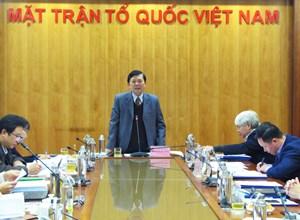 BẢN TIN MẶT TRẬN: Phó Chủ tịch Nguyễn Hữu Dũng chủ trì Hội nghị nghiệm thu đề tài khoa học cấp bộ