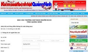 Quảng Ninh: Đưa vào sử dụng phần mềm báo dịch nCoV trực tuyến