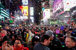 Nước Mỹ chính thức đón năm mới 2020