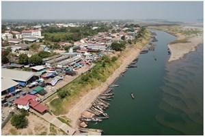 Sông Mekong qua Thái Lan gần như cạn, mực nước thấp nhất trong 10 năm